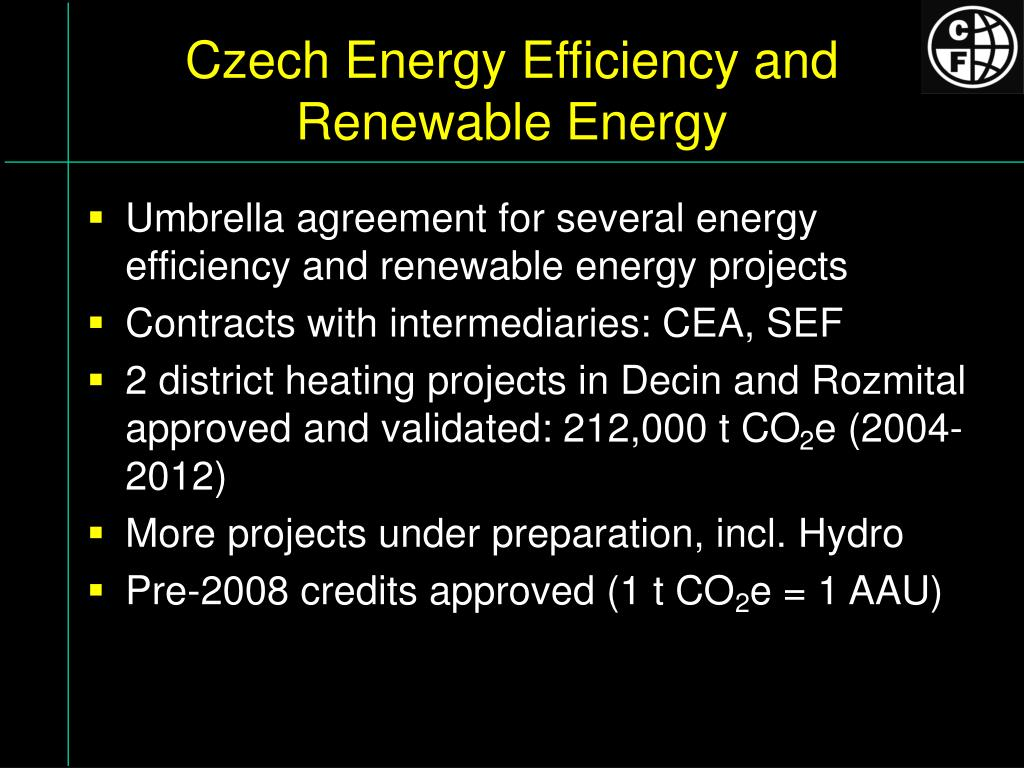 Czech Energy Efficiency and Renewable Energy
