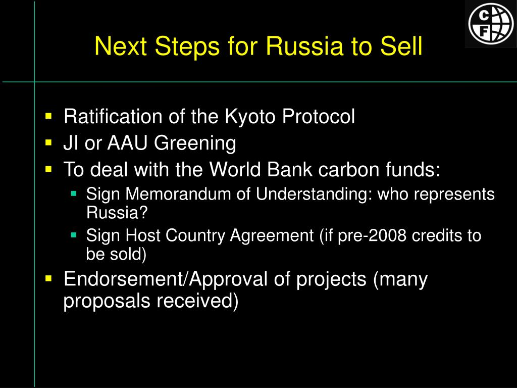 Next Steps for Russia to Sell