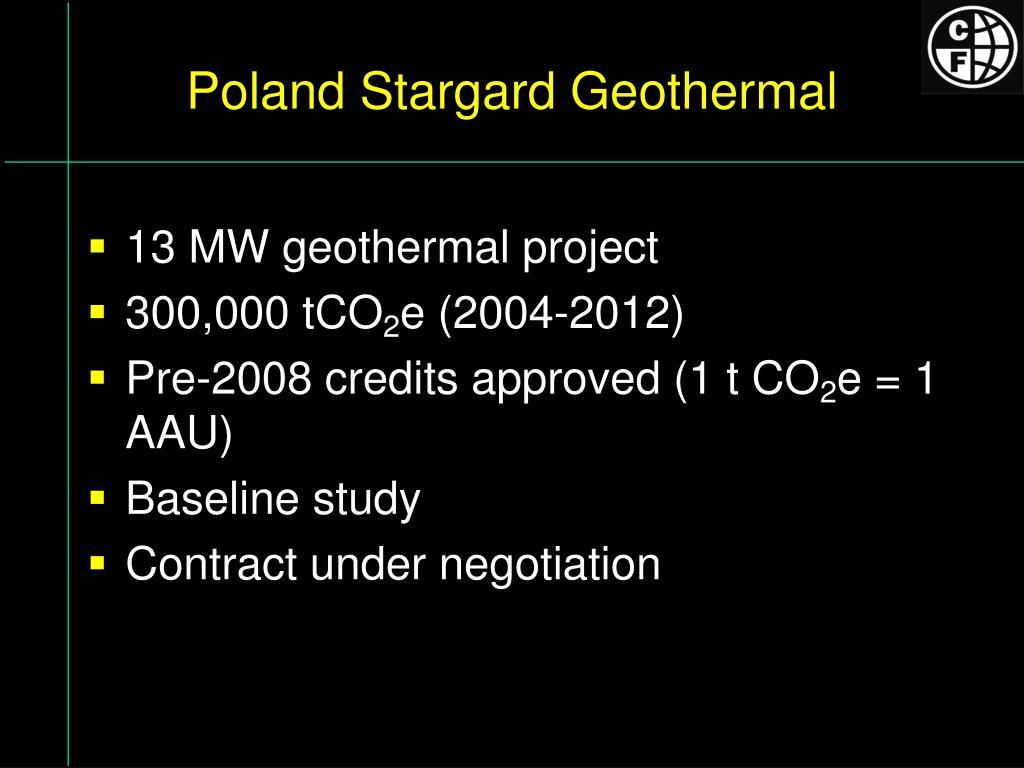 Poland Stargard Geothermal