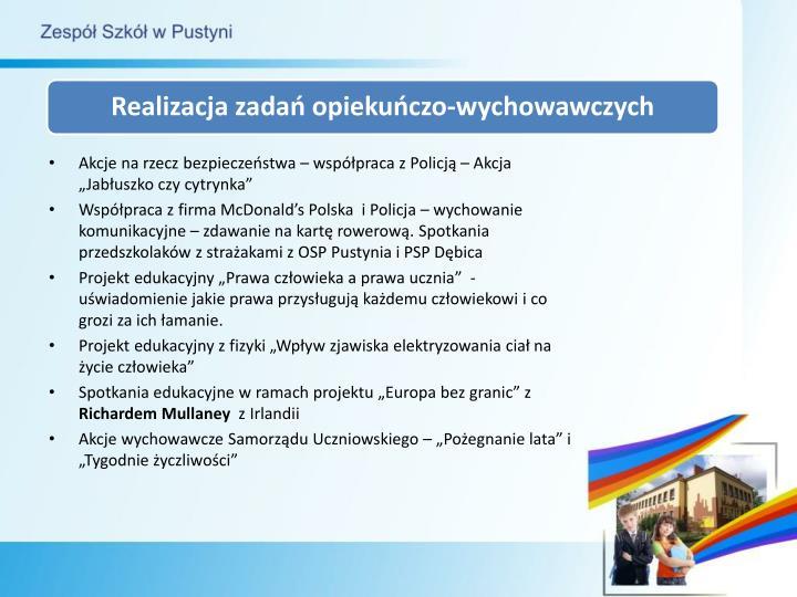 """Akcje na rzecz bezpieczeństwa – współpraca z Policją – Akcja """"Jabłuszko czy cytrynka"""""""