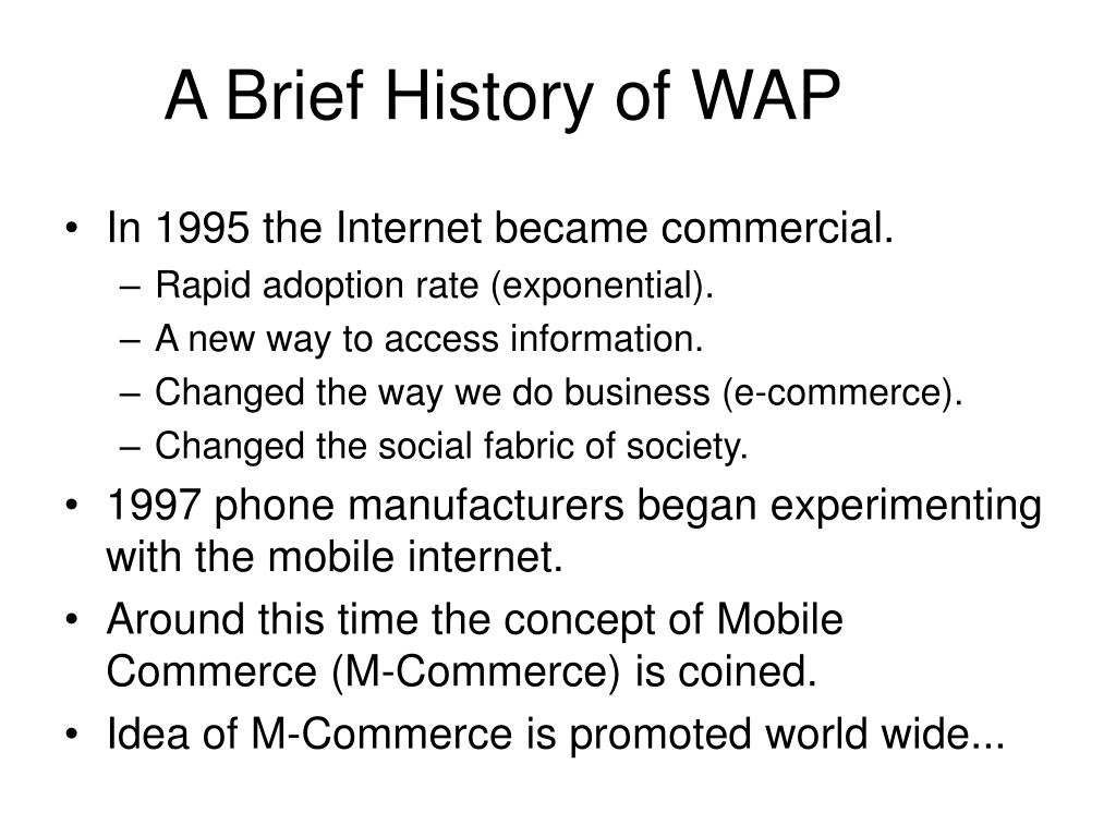 A Brief History of WAP