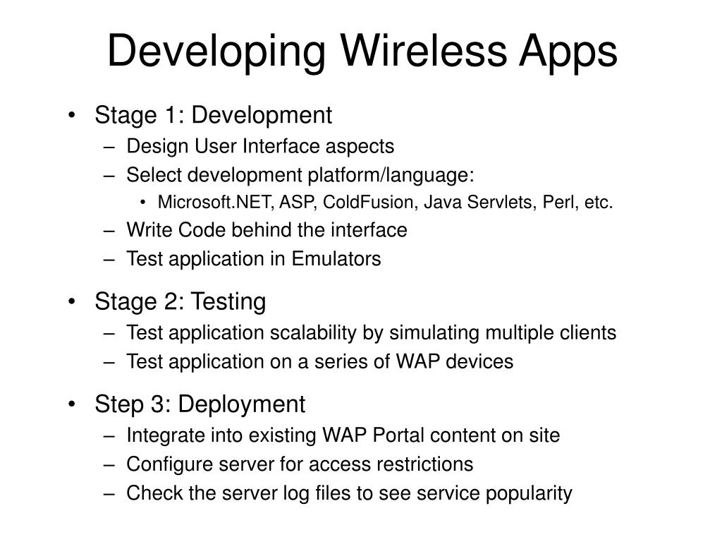 Developing Wireless Apps