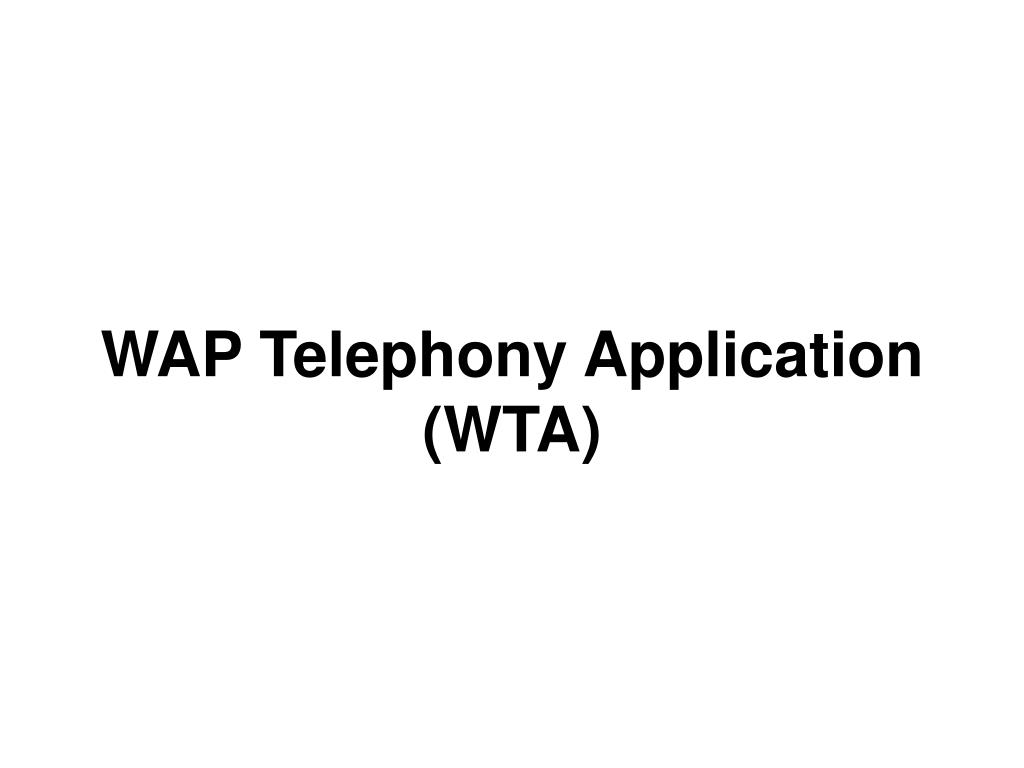 WAP Telephony Application