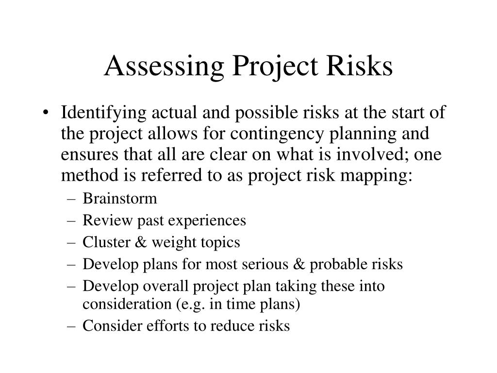 Assessing Project Risks