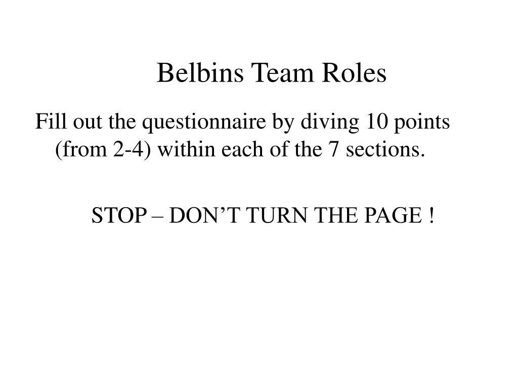 Belbins Team Roles