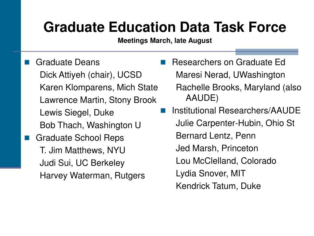 Graduate Deans