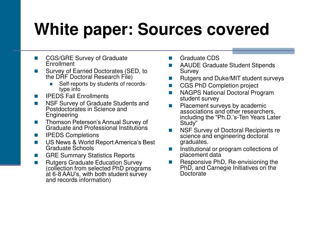 CGS/GRE Survey of Graduate Enrollment