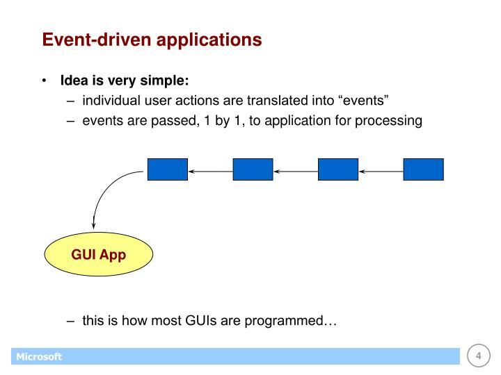 Event-driven applications