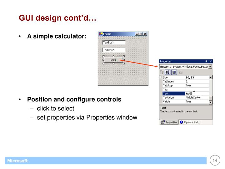 GUI design cont'd…