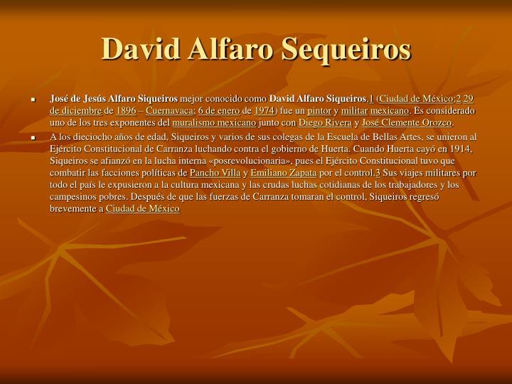 David Alfaro Sequeiros