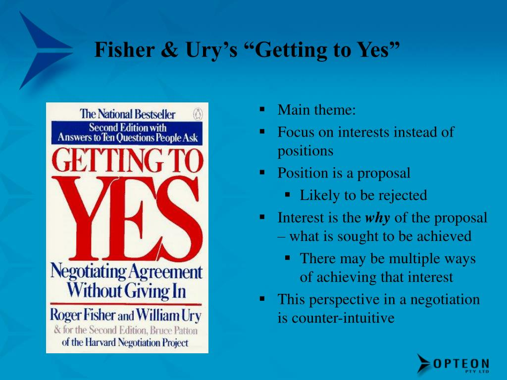 """Fisher & Ury's """"Getting to Yes"""""""