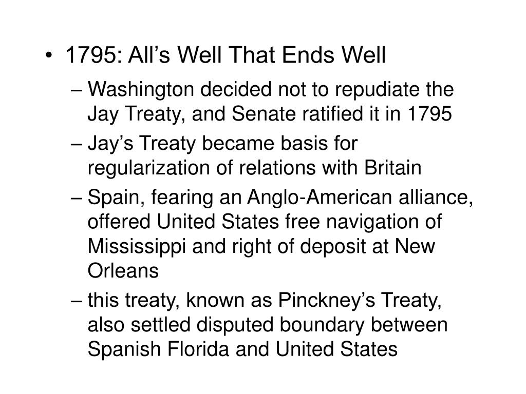 1795: All's Well That Ends Well