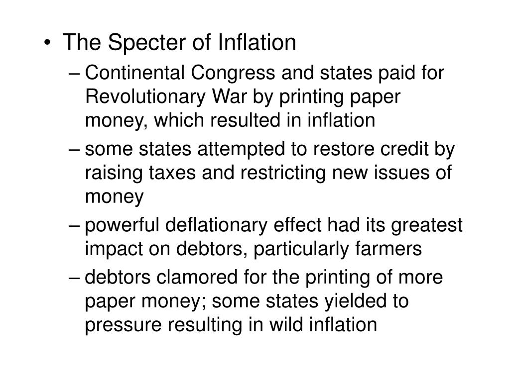 The Specter of Inflation