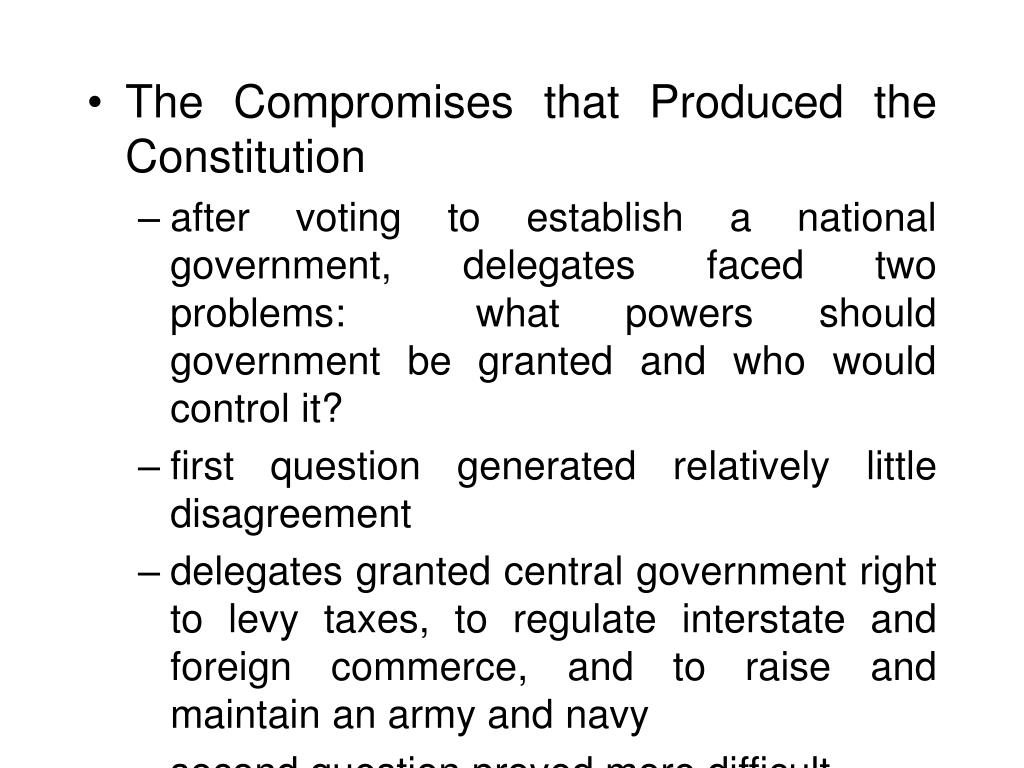 The Compromises that Produced the Constitution