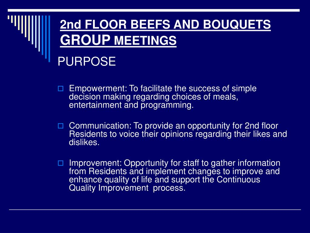 2nd FLOOR BEEFS AND BOUQUETS