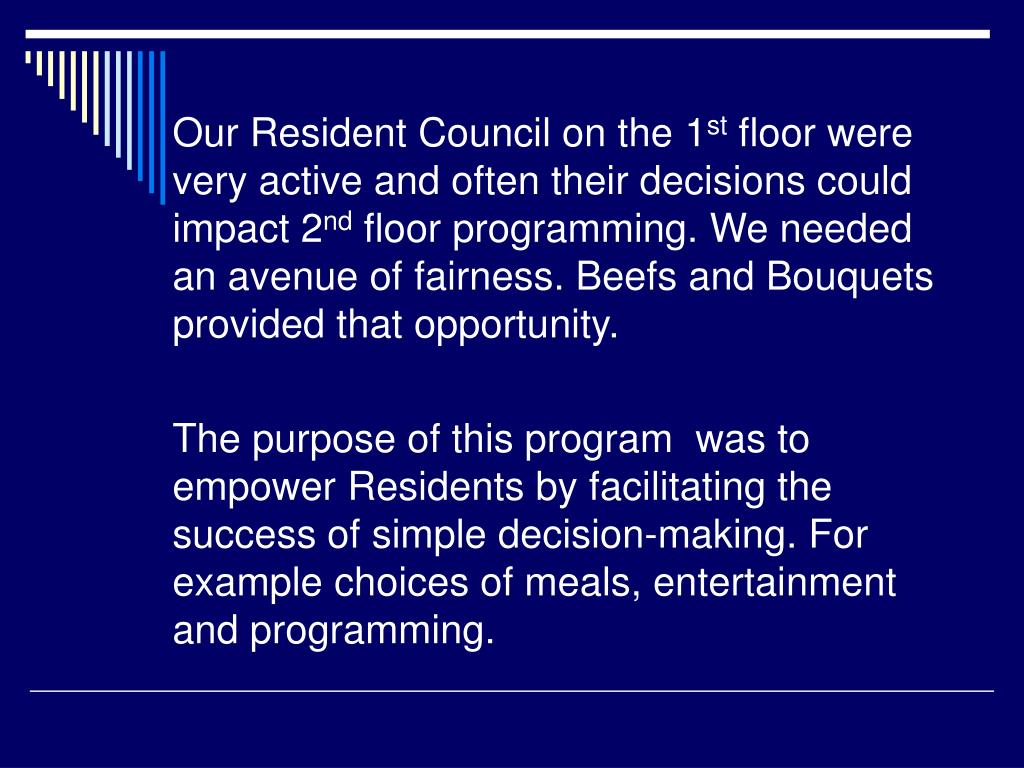 Our Resident Council on the 1