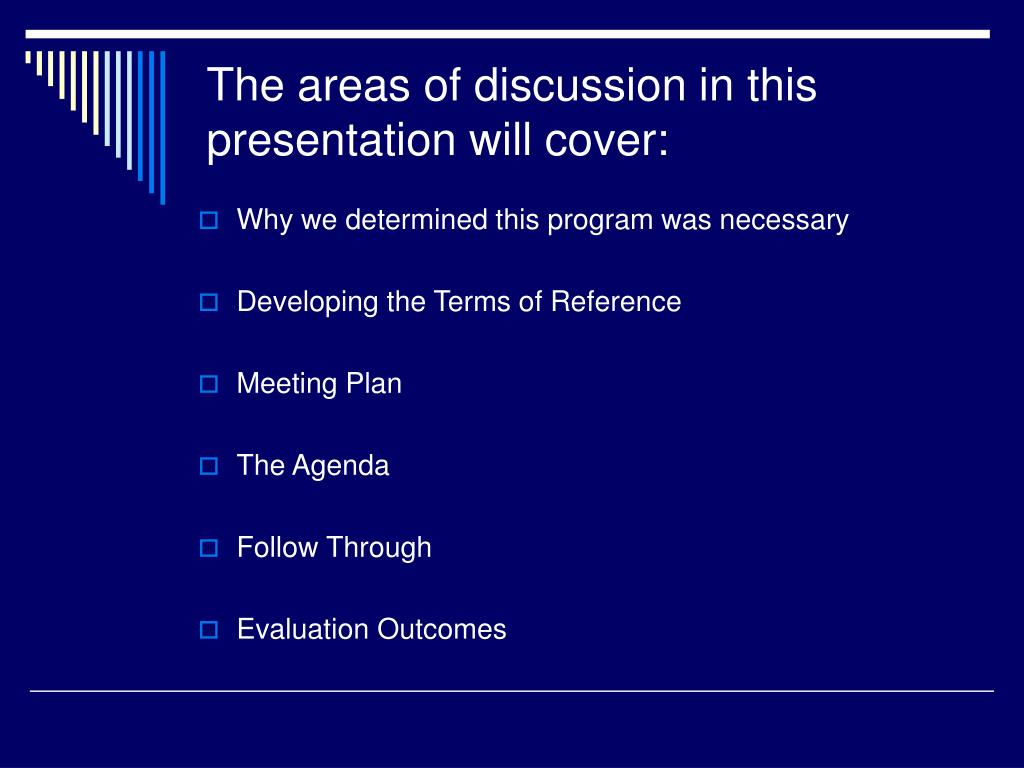 The areas of discussion in this presentation will cover: