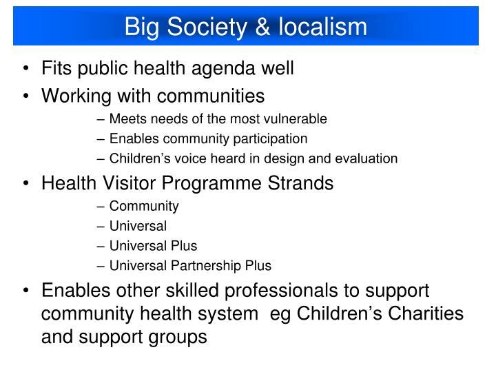Big Society & localism