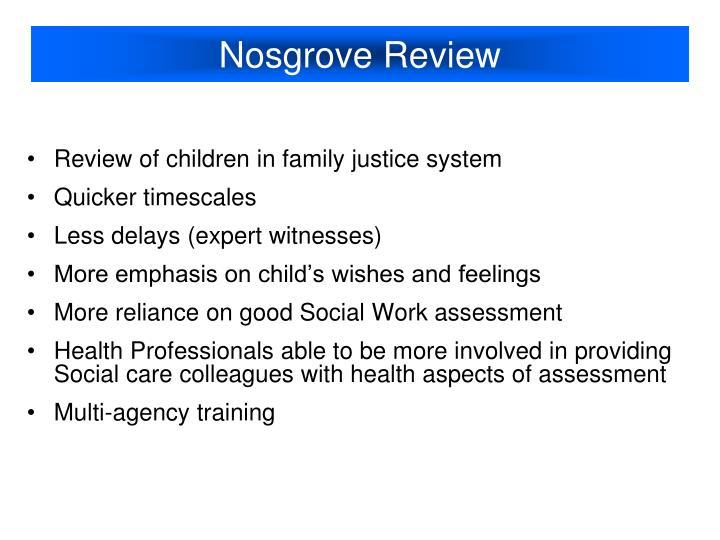 Nosgrove Review