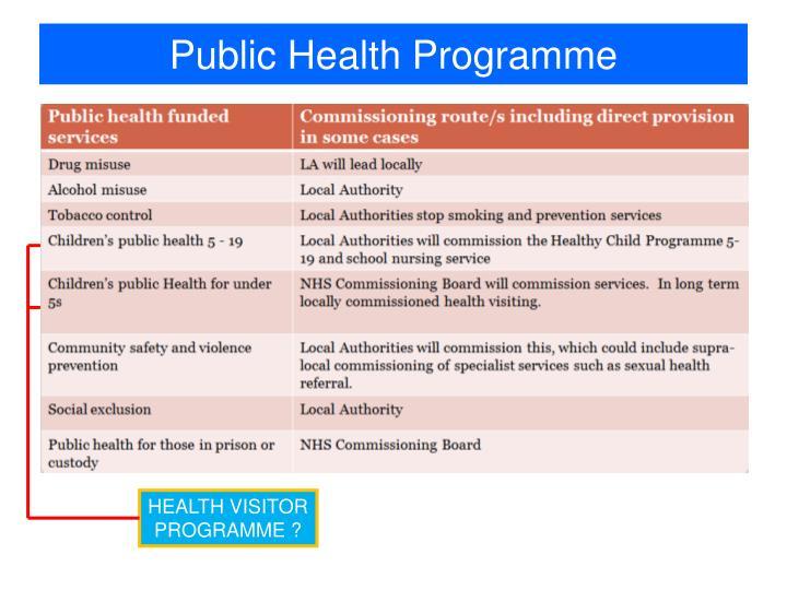 Public Health Programme