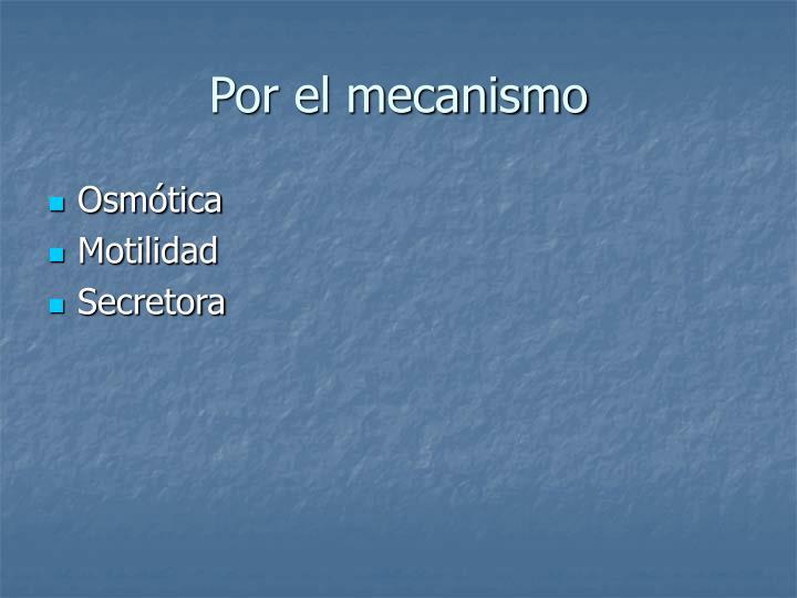 Por el mecanismo