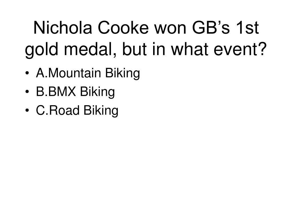 Nichola Cooke won GB's 1st gold medal, but in what event?