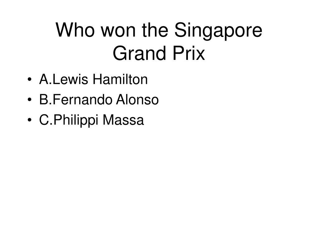 Who won the Singapore Grand Prix