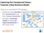 capturing the uncaptured values towards a new business model