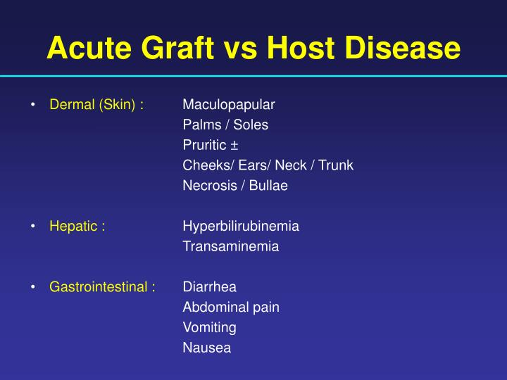 Acute Graft vs Host Disease