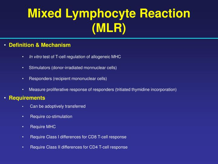 Mixed Lymphocyte Reaction