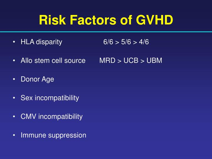 Risk Factors of GVHD
