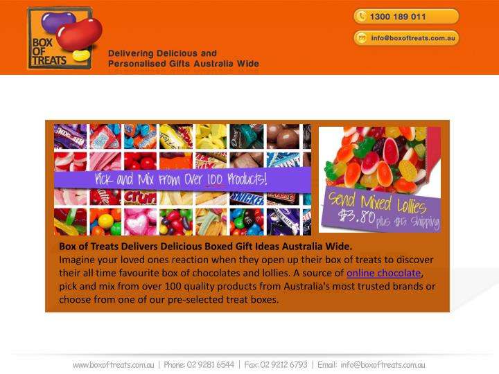 Box of Treats Delivers Delicious Boxed Gift Ideas Australia Wide.