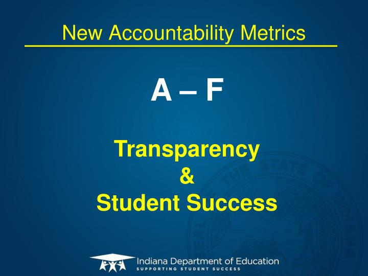 New Accountability Metrics