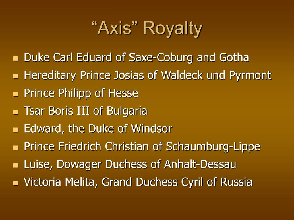"""""""Axis"""" Royalty"""