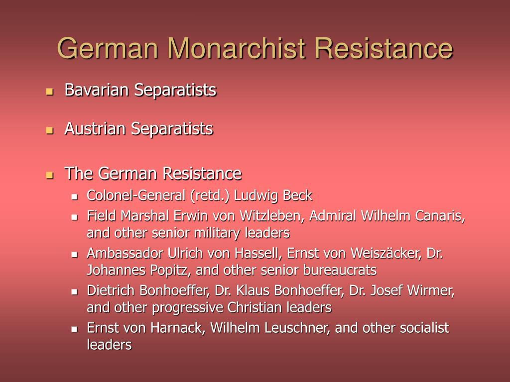 German Monarchist Resistance