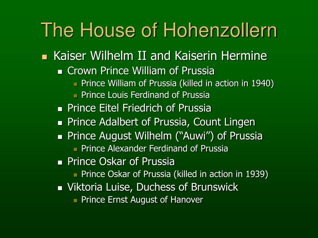 The House of Hohenzollern