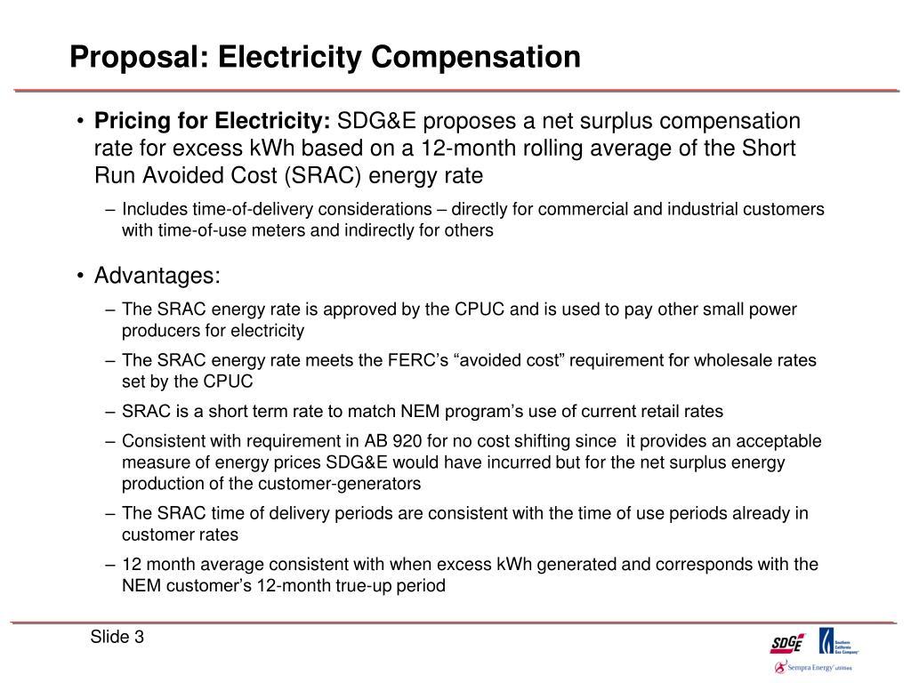 Proposal: Electricity Compensation