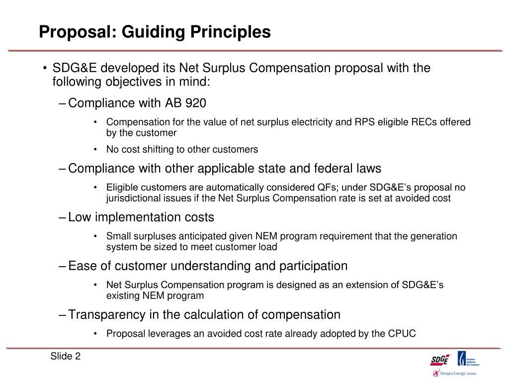 Proposal: Guiding Principles