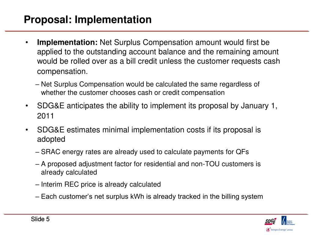 Proposal: Implementation
