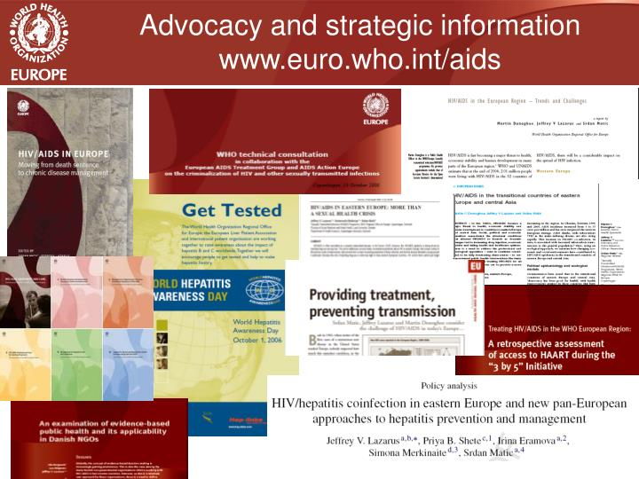 Advocacy and strategic information