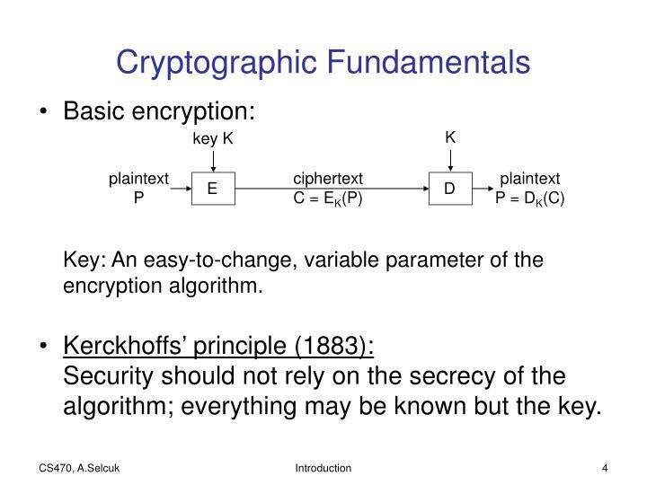 Cryptographic Fundamentals