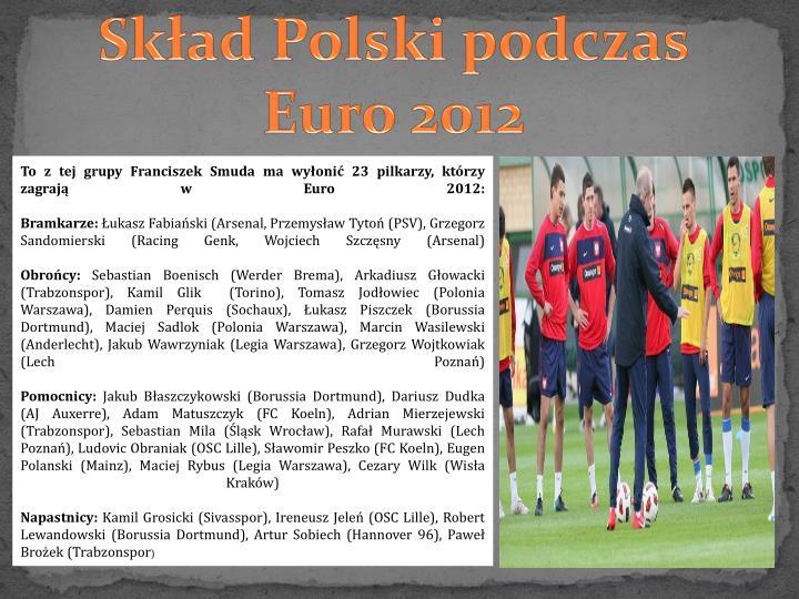 Skład Polski podczas Euro 2012