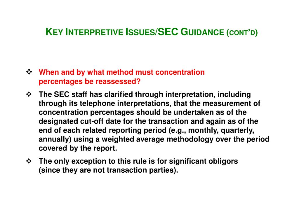 When and by what method must concentration percentages be reassessed?