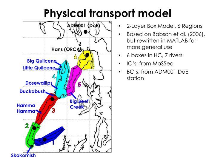 Physical transport model