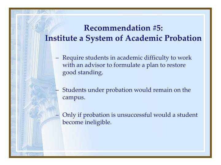 Recommendation #5: