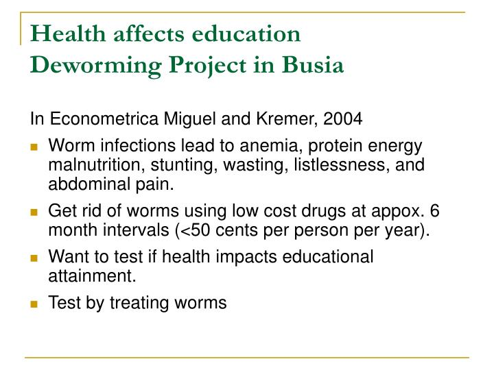 Health affects education