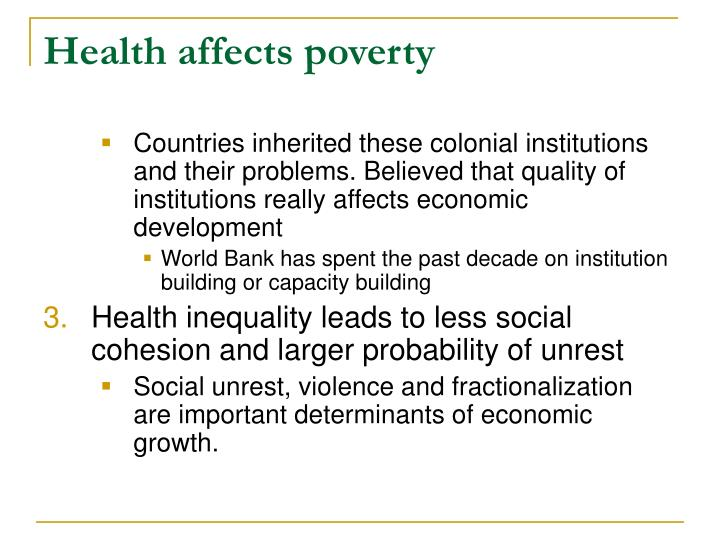 Health affects poverty