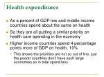 health expenditures1