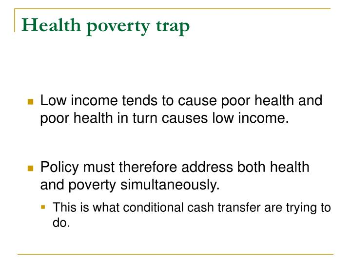 Health poverty trap