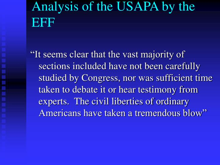 Analysis of the USAPA by the EFF